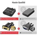 Adaptateur HDMI vers VGA, VicTsing Adaptateur Convertisseur HDMI Femelle vers VGA Mâle 1080P avec Câble Audio 3.5mm pour Lecteur DVD, Tablettes, Appareil Photo Numérique, Caméra SLR de la marque VICTSING image 3 produit