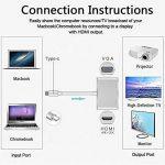 Adaptateur HDMI, VGA 1080p USB-C vers VGA et HDMI 4K, Digitcont USB 3.1type C 2en 1convertisseur vidéo adaptateur pour 2017Nouveau MacBook/Chromebook Pixel/Yoga 900/appareils USB-C vers HDTV/Vidéoprojecteur de la marque DigitCont image 3 produit