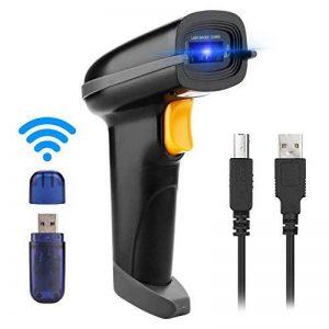 AGPtek 2,4GHz sans fil Barcode Scanner (2en 1sans fil 2,4GHz & USB2.0filaire) USB Automatique Barcode Reader de la marque AGPTEK image 0 produit