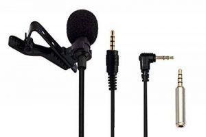 AGPTEK AC02 Microphone PC 3.5mm Jack Audio Pince Skype, iPhone, Android, etc, Noir de la marque AGPTEK image 0 produit