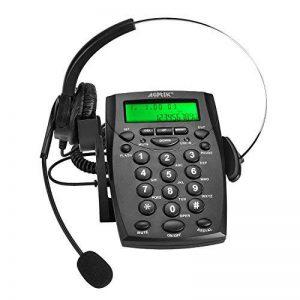 AGPtek Call Center micro-casque téléphonique Pavé numérique téléphone avec Tone Dial Key Pad & BIS pour business - peut enregistrer le voix de la marque AGPTEK image 0 produit