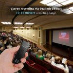 AGPTEK Dictaphone 8Go Enregistreur Vocal RP23 Line-In Dictaphone Numérique Anti-bruit, Supporte AVR, PCM 1536kbps, Lecteur MP3 avec Haut-parleur, Un Bouton pour Enregistrer, Noir de la marque AGPTEK image 4 produit