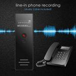 AGPTEK Dictaphone 8Go Enregistreur Vocal RP23 Line-In Dictaphone Numérique Anti-bruit, Supporte AVR, PCM 1536kbps, Lecteur MP3 avec Haut-parleur, Un Bouton pour Enregistrer, Noir de la marque AGPTEK image 2 produit