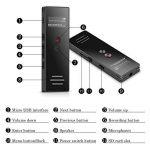 AGPTEK Dictaphone 8Go Enregistreur Vocal RP23 Line-In Dictaphone Numérique Anti-bruit, Supporte AVR, PCM 1536kbps, Lecteur MP3 avec Haut-parleur, Un Bouton pour Enregistrer, Noir de la marque AGPTEK image 3 produit