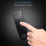 AGPTEK Dictaphone 8Go Enregistreur Vocal RP23 Line-In Dictaphone Numérique Anti-bruit, Supporte AVR, PCM 1536kbps, Lecteur MP3 avec Haut-parleur, Un Bouton pour Enregistrer, Noir de la marque AGPTEK image 1 produit
