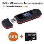 AGPTEK Lecteur Mp3 U3 8Go avec Ecran LCD, Noir et Rouge de la marque AGPTEK image 2 produit