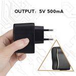 AGPTEK UC2B Chargeur 5V 500mA Adaptateur Secteur USB pour Lecteur Mp3 et Dictaphone/Enregistreur Vocal- Noir de la marque AGPTEK image 1 produit