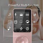 """AGPTek Ultra-longue autonomie en veille jusqu'à 70 heures Lecteur MP3 avec Ecran de 1.8"""" (soutien la carte mémoire de 64Go), Or Rose de la marque AGPTEK image 3 produit"""