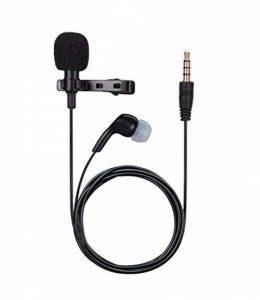 AGPTEK Version MAJ Microphone 3.5mm pour PC avec Ecouteur et Pince AC02BE, Noir de la marque AGPTEK image 0 produit