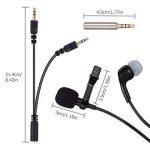 AGPTEK Version MAJ Microphone 3.5mm pour PC avec Ecouteur et Pince AC02BE, Noir de la marque AGPTEK image 1 produit