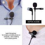 AGPTEK Version MAJ Microphone 3.5mm pour PC avec Ecouteur et Pince AC02BE, Noir de la marque AGPTEK image 3 produit
