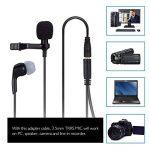AGPTEK Version MAJ Microphone 3.5mm pour PC avec Ecouteur et Pince AC02BE, Noir de la marque AGPTEK image 4 produit