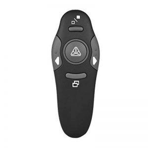 Aibecy 2.4GHz Stylo Pointeur Clicker Sans Fil USB Présentation PPT Flip avec Lumière Rouge Récepteur Télécommande de Powerpoint pour Professeur Scholar (Batterie non Incluse) de la marque Aibecy image 0 produit