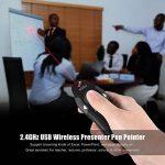 Aibecy 2.4GHz Télécommande de Présentation Pointeur Laser Sans Fil Présentateur PPT Powerpoint Clicker pour Enseignement Conférence de la marque Aibecy image 1 produit