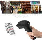 Aibecy 433Mhz sans fil 1D/2D/QR lecteur de code-barres de scanner de code à barres tenu dans la main 400-500 mètres distance de transmission avec la base pour l'entrepôt de supermarché de magasin de la marque Aibecy image 3 produit