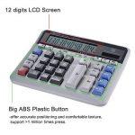 Aibecy Grande ordinateur Compteur de calculatrice électronique solaire et batterie d'alimentation à 12chiffres Affichage multifonction Big Button pour Business Office école calculer de la marque Aibecy image 1 produit