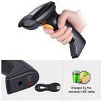 Aibecy LM800 BTLecteur de 1D Code Barre sans Fil 2.4G Scanner Douchette + USB Récepteur + USB câble d'Alimentation, 300 Fois / s (NOIR) de la marque Aibecy image 3 produit