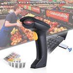 Aibecy LM800 BTLecteur de 1D Code Barre sans Fil 2.4G Scanner Douchette + USB Récepteur + USB câble d'Alimentation, 300 Fois / s (NOIR) de la marque Aibecy image 4 produit