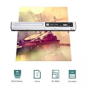 Aibecy Mini Scanner de Documents Scanner Portable Coloré & Mono - 900DPI - Format JPEG/PDF - USB Alimentation (B) de la marque Aibecy image 0 produit