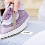 Airmall Étiquettes en Tissu Thermocollant Compatible pour DYMO LT 18771 LetraTag Imprimantes 12mm x 2M Imprimées en Noir Sur Fer Blanc Sur Vêtements 2-Packs de la marque Airmall image 2 produit