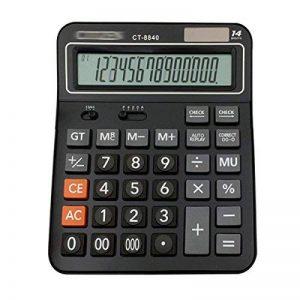 AiSi Calculatrice Solaire Bureau Grande Touche avec Cordon 14 Chiffres Noir de la marque AiSi image 0 produit