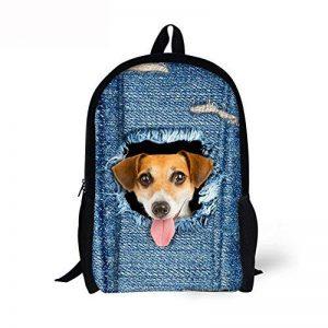 ALIKEEY★★Cadeau d'école 3D Animal Print Cat Dog Sac à dos Étudiant École Collège Sacs à bandoulière de la marque ALIKEEY image 0 produit
