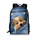ALIKEEY★★Cadeau d'école 3D Animal Print Cat Dog Sac à dos Étudiant École Collège Sacs à bandoulière de la marque ALIKEEY image 1 produit