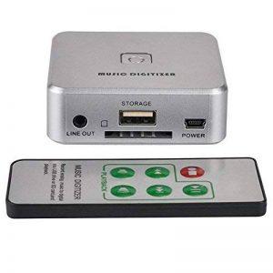 Allcaca Musique numérique Enregistreur Capture Audio Musique son numérique RCA R/L entrée 3,5mm vers USB Audio Capture adaptateur avec télécommande, câble USB et câble audio de 3,5mm, argent de la marque ALLCACA image 0 produit