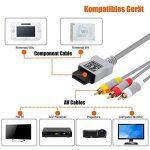 amathings Câble de raccordement pour Wii et Wii U de composants HDTV YUV Component ou Adaptateur péritel IN/OUT + S-Vidéo/S-VHS de la marque amathings image 3 produit