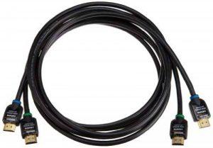 AmazonBasics Lot de 2câbles HDMI haut débit Compatible Ethernet/3D/retour audio [Nouvelles normes] 3 m de la marque AmazonBasics image 0 produit