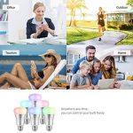 Ampoule E27 Intelligente LED WiFi, Bawoo 7W Lampe Ambiance Dimmable Ampoule Connectée Ecologique Lumiere Couleurs RGB Compatible Avec Amazon Alexa Google Home IFTTT Télécommande Par Smartphone de la marque Bawoo image 3 produit
