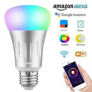 Ampoule E27 Intelligente LED WiFi, Bawoo 7W Lampe Ambiance Dimmable Ampoule Connectée Ecologique Lumiere Couleurs RGB Compatible Avec Amazon Alexa Google Home IFTTT Télécommande Par Smartphone de la marque Bawoo image 0 produit