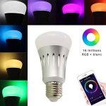 Ampoule LED Connectée E27 - Ampoule WIFI Alexa & Google Home - RGB 16 Millions de couleurs / Lumière blanche chaude & froide / Variation & Scènes - APP SmartLife Contrôle à Distance [Classe énergétique A+] de la marque Anio image 1 produit