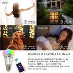 Ampoule LED Connectée E27 - Ampoule WIFI Alexa & Google Home - RGB 16 Millions de couleurs / Lumière blanche chaude & froide / Variation & Scènes - APP SmartLife Contrôle à Distance [Classe énergétique A+] de la marque Anio image 2 produit