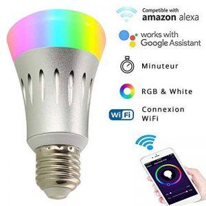 Ampoule LED Connectée E27 - Ampoule WIFI Alexa & Google Home - RGB 16 Millions de couleurs / Lumière blanche chaude & froide / Variation & Scènes - APP SmartLife Contrôle à Distance [Classe énergétique A+] de la marque Anio image 0 produit