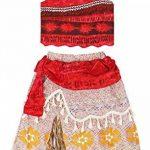 AmzBarley Filles Princesse Moana Aventure Costume pour Enfant en Bas Âge Fantaisie Cosplay S'habiller Dessus de récolte + Jupe Vêtements Ensemble 1-8 Ans de la marque AmzBarley image 2 produit