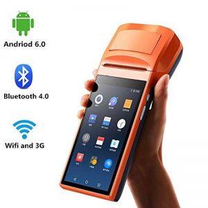 [ Android 6.0 ] PDA Terminal Lecteur de code à barres Android 5 pouces de poche avec 3G WiFi Bluetooth Imprimante thermique intégrée MUNBYN et Lecteur de code à barres 1D / QR pour l'impression de reçus pour les petites entreprises de la marque MUNBYN image 0 produit