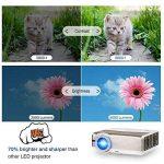 """Android Projecteur Wifi Sans Fil 5000 Lumens, Max 200 """"1080p HDMI Full HD projecteur haute luminosité avec USB VGA AV Audio / Keystone et 50000 heures Lampe Led (Manuel anglais et UK Plug) de la marque CAIWEI image 3 produit"""