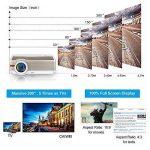"""Android Projecteur Wifi Sans Fil 5000 Lumens, Max 200 """"1080p HDMI Full HD projecteur haute luminosité avec USB VGA AV Audio / Keystone et 50000 heures Lampe Led (Manuel anglais et UK Plug) de la marque CAIWEI image 4 produit"""