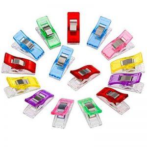 Anpro 60PCS Clips Pinces DIY Pince 2.7 * 1.0 * 1.5cm en ABS Reliure Couture Artisanat 6 Couleurs Rose,Rouge,Bleu,Jaune,Violet,Vert de la marque Anpro image 0 produit