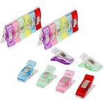 Anpro 60PCS Clips Pinces DIY Pince 2.7 * 1.0 * 1.5cm en ABS Reliure Couture Artisanat 6 Couleurs Rose,Rouge,Bleu,Jaune,Violet,Vert de la marque Anpro image 2 produit