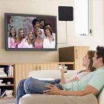 Antenne TV, 2018 Version Dernière KOBWA Antenne TNT Intérieur Full HD Antenne HDTV Amplifiée 80 KM/ 50 Mile Range, Ultra-mince 0.6mm VHF / UHF / FM, vec Détachable Signal de la marque KOBWA image 3 produit