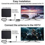 Antenne TV, 2018 Version Dernière KOBWA Antenne TNT Intérieur Full HD Antenne HDTV Amplifiée 80 KM/ 50 Mile Range, Ultra-mince 0.6mm VHF / UHF / FM, vec Détachable Signal de la marque KOBWA image 4 produit