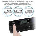 AOZBZ Scanner de Documents de Poche Portable, 900DPI USB Scanner de Image Portable Baliseur Photo Couleur A4 Mobile Scanner Handy Scan ( Format JPG / PDF, USB 2.0 Haute Vitesse, Carte Micro SD / TF Re de la marque AOZBZ image 4 produit