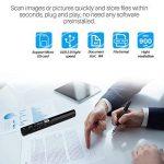 AOZBZ Scanner de Documents de Poche Portable, 900DPI USB Scanner de Image Portable Baliseur Photo Couleur A4 Mobile Scanner Handy Scan ( Format JPG / PDF, USB 2.0 Haute Vitesse, Carte Micro SD / TF Re de la marque AOZBZ image 1 produit