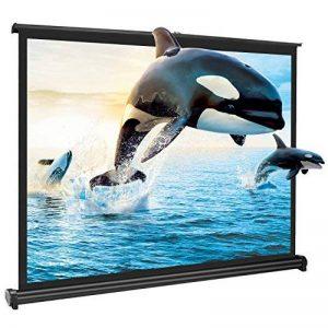 """APEMAN 50"""" Écran de Projection Portable Écran Enroulable en Tissu Blanc Compatible avec Vidéoprojecteur pour Home Cinéma / Réunion / Colloque / Représentation Commercial de la marque apeman image 0 produit"""