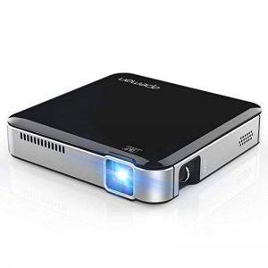 APEMAN Mini Projecteur DLP Portable HD Batterie Intégrée Rechargeable HDMI MHL Entrée Double Haut-Parleurs Stéréo LED Durée de Vie jusqu'à 25000 Heures (Noir) de la marque apeman image 0 produit