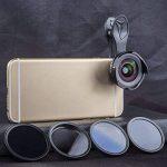 Apexel Kit de lentille de caméra universel clip 6 pouces en 0.6X Grand angle + 10X Objectif macro + 4 filtres pour iPhone 6 / 6S Plus SE Samsung Galaxy S7 / S7 Edge S6 / S6 Edge S8 et la plupart des smartphones de la marque Apexel image 1 produit