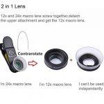 Apexel Macaro Lens- 2 en 1 12x Lentille Macro 24x Macro Mobile Camera pour Iphone Samsung HTC Xiaomi Android Smartphones de la marque Apexel image 4 produit