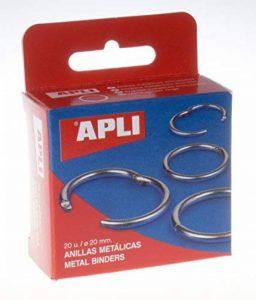 Apli 000451 Lot de 20 Anneau en métal ouvrable 20 mm Argent de la marque Apli image 0 produit